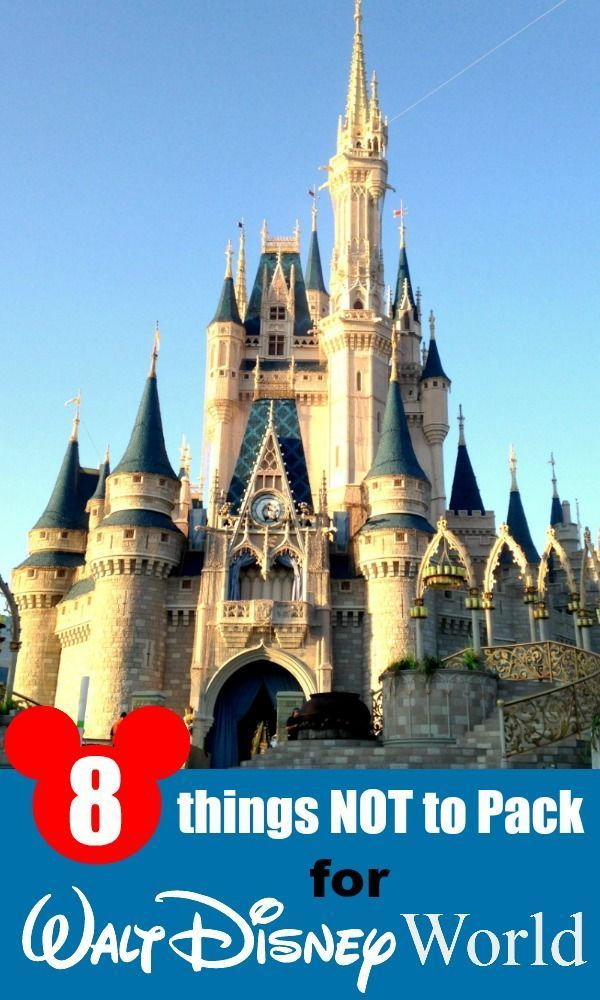 "Head swimming from all of the ""what to pack"" lists? Here's 8 things NOT to pack when heading to Walt Disney World!"