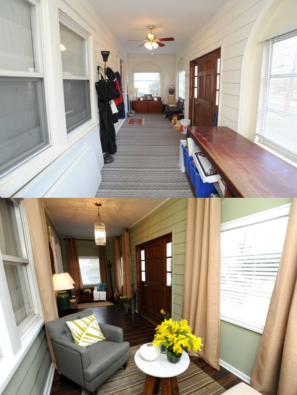 This enclosed porch/entrance turned out so well.