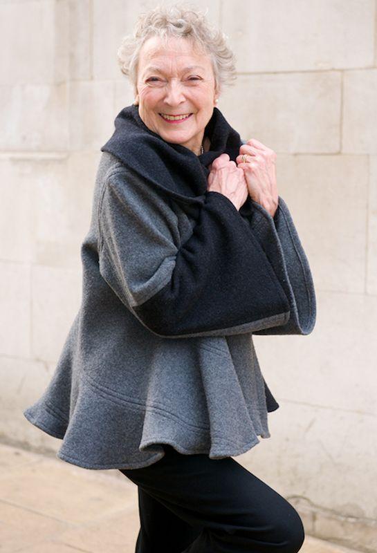 Mandy loves her snail Jacket in Felted wool ... #grandmotherfashion #saveitforlater