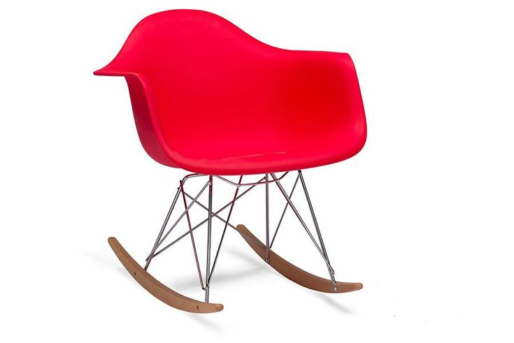Baxton Studio Dario Red Plastic Rocking Chair