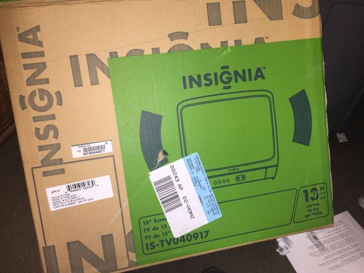 """Insignia Model #IS-TV040917 13"""" Color Television New in Box with remote & manual #Insignia"""