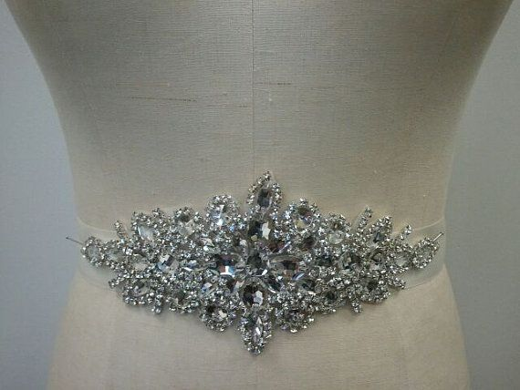 Wedding Belt Bridal Belt Crystal Rhinestone by LucyBridalBoutique, $88.00 // Not what we talked about, but a lot cheaper.