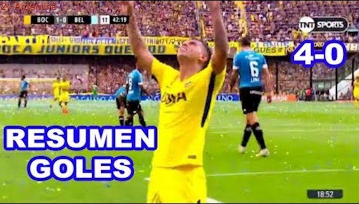 Boca Junior vs Belgrano 4-0 RESUMEN GOLES Súper Liga Argentina 29/10/2017