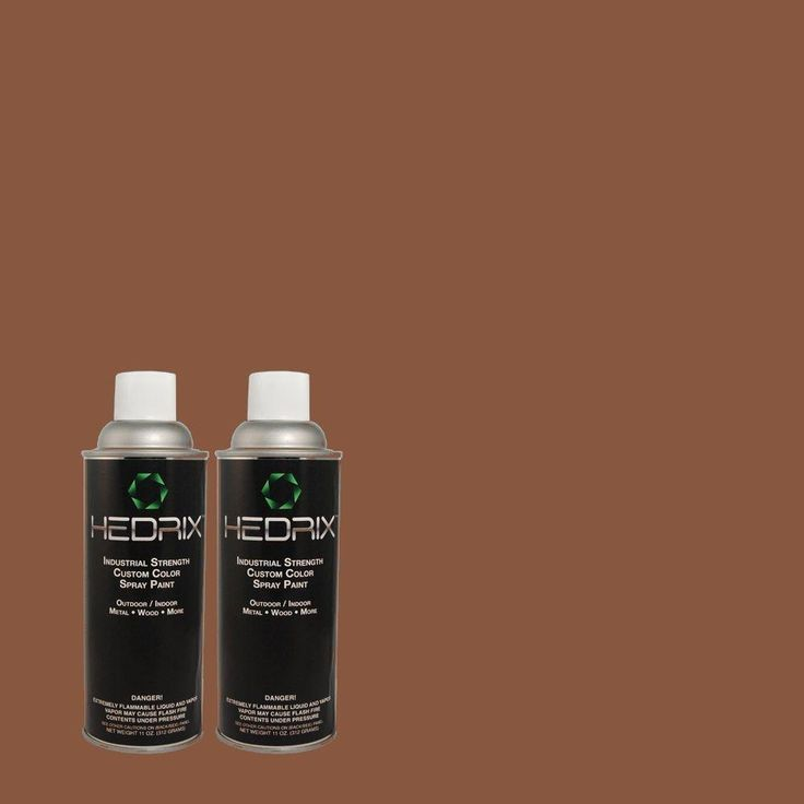 Hedrix 11 oz. Match of MQ1-62 Leather Clutch Flat Custom Spray Paint (8-Pack), Color Match Of Mq1-62 Leather Clutch. Available In Multiple Sheens.
