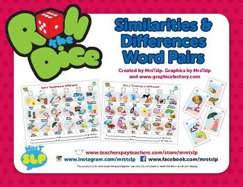 A fun quick game to work on Similarities and Differences.Directions:1. Print out as many copies as needed for your group. Laminate for added durability. This set includes 4 mixed boards of 36 sets of similarities/differences word pairs. Flash cards are also included for every Similarities/Differences word pair in this packet.2.