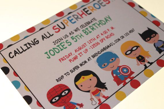 superhero birthday invites