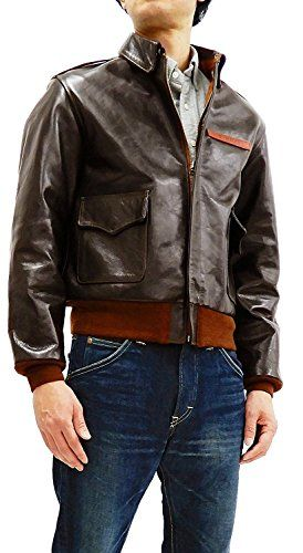 3689c354a Landing Leathers Men's Air Force A-2 Leather Flight Bomber Jacket in ...