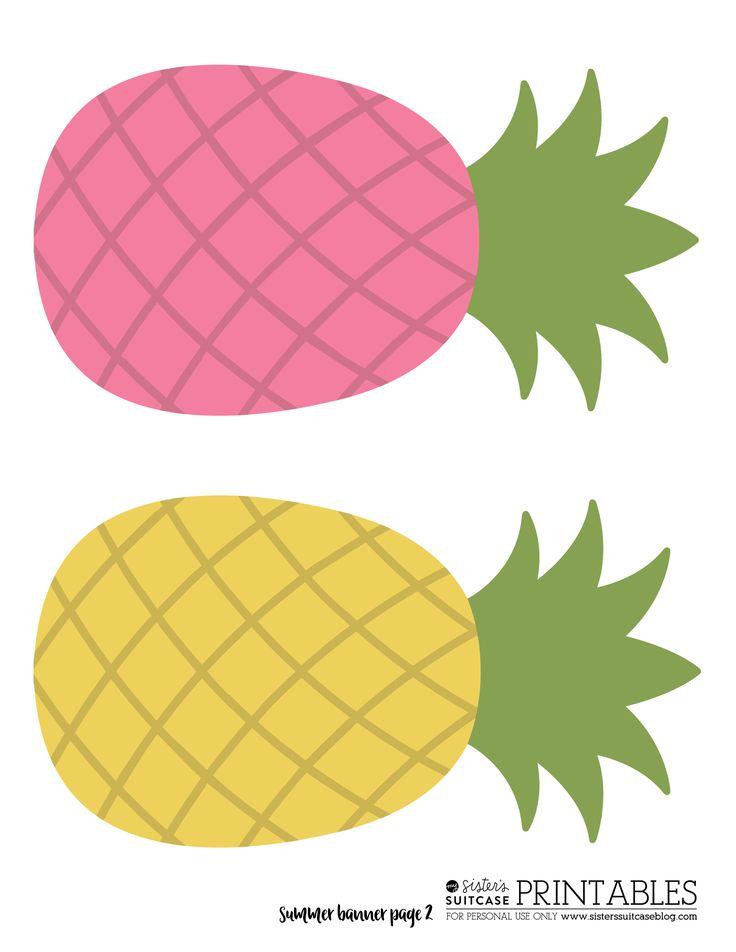 Pineapple Banner | Pineapple theme, Flamingo birthday ...