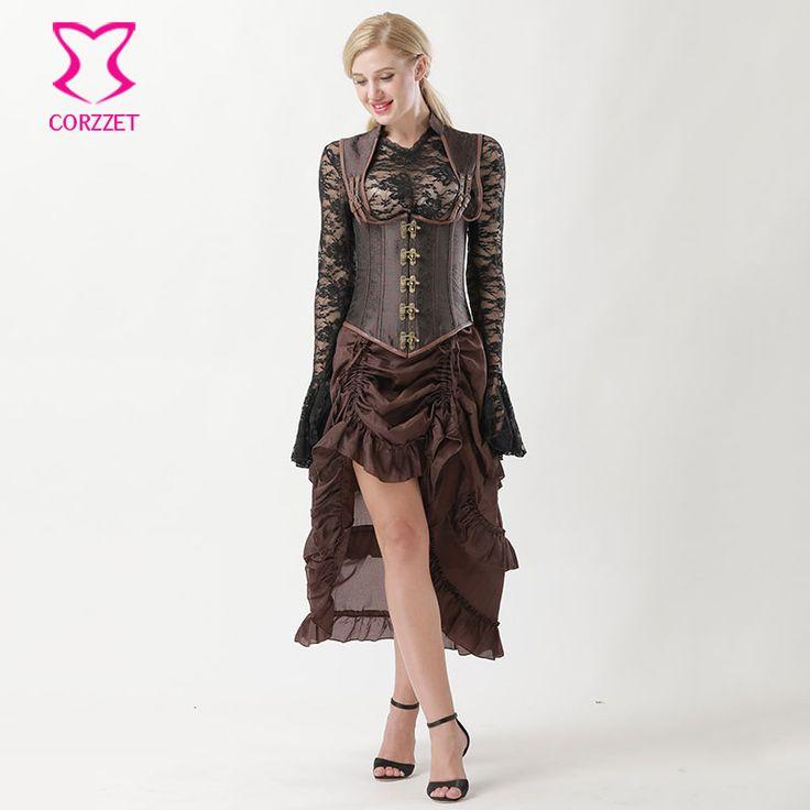 Винтаж стимпанк корсет платья Викторианский готический одежда Corpetes е корсетные грудью жилет сексуальные корсеты и бюстье стали костяком