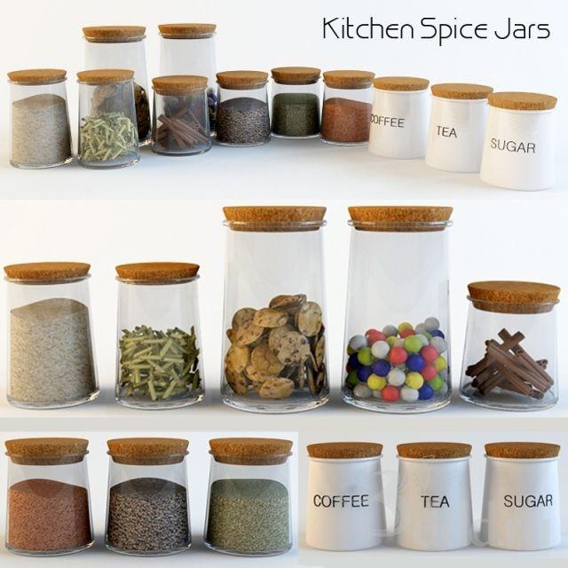 PROFI Kitchen Spice Jars 2010 + Fbx (Vray) : Other Kitchen Accessories :    Models