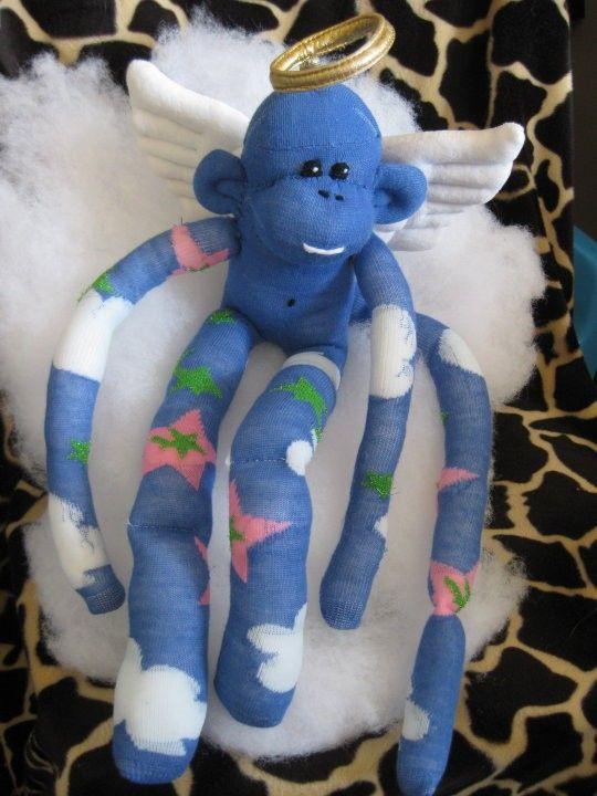 Angel And Fairy Sock Monkeys by Banana Andy's Sunnyside Rainforest