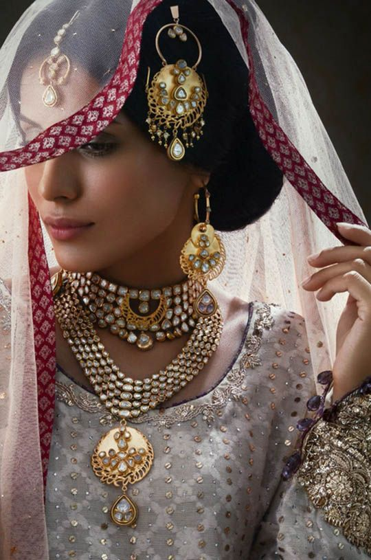 Shafaq Habib House of Jewellery Bridal collection 2014_ specially in polki diamonds and 22 k gold.