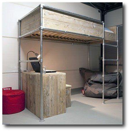 Loft Pipe Bed Frame  Simplified Building