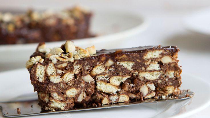 Chocolate Hazelnut Fridge Cake