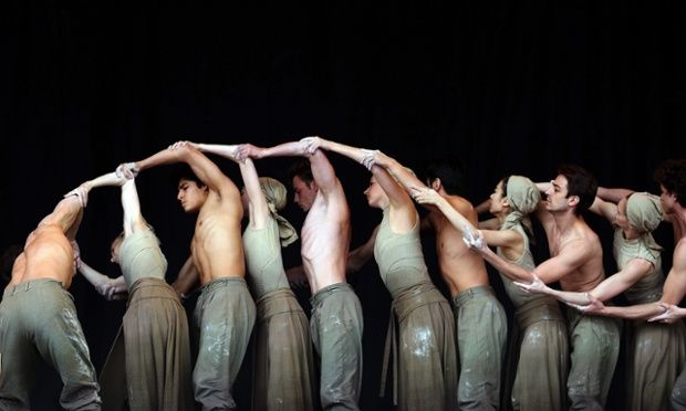Members of the English National Ballet. performing Dust, choreographed by Akram Khan