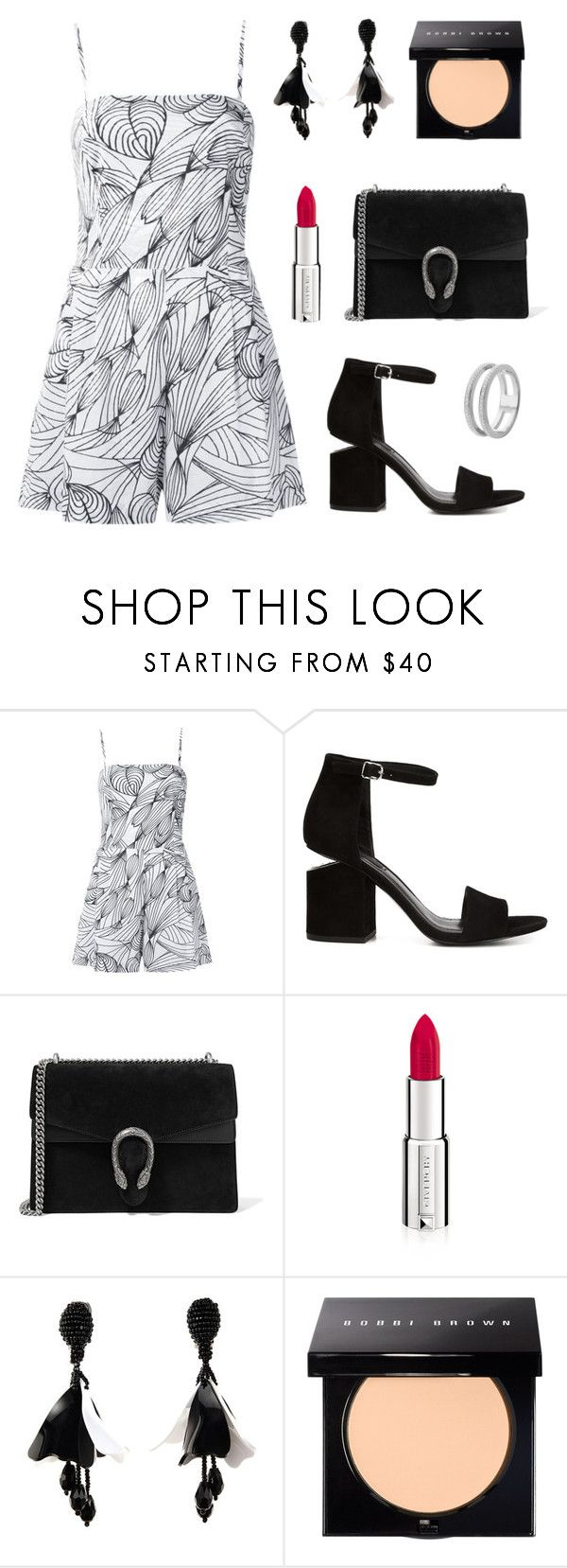 """""""Play Time"""" by tasha-m-e ❤ liked on Polyvore featuring Isolda, Alexander Wang, Gucci, Givenchy, Oscar de la Renta, Bobbi Brown Cosmetics and Monica Vinader"""