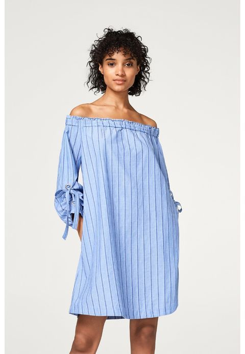 By Off Zalando Shoulder Dress Esprit N08wopk Edc Blue Robe D'été Fr YIv7gbf6y