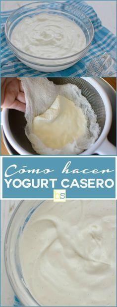 Cómo hacer yogurt casero regular y estilo griego utilizando utensilios disponibles en casa. En bizcochosysancochos.com