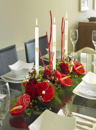 décoration florale de table  | Compositions pour noël – art 2
