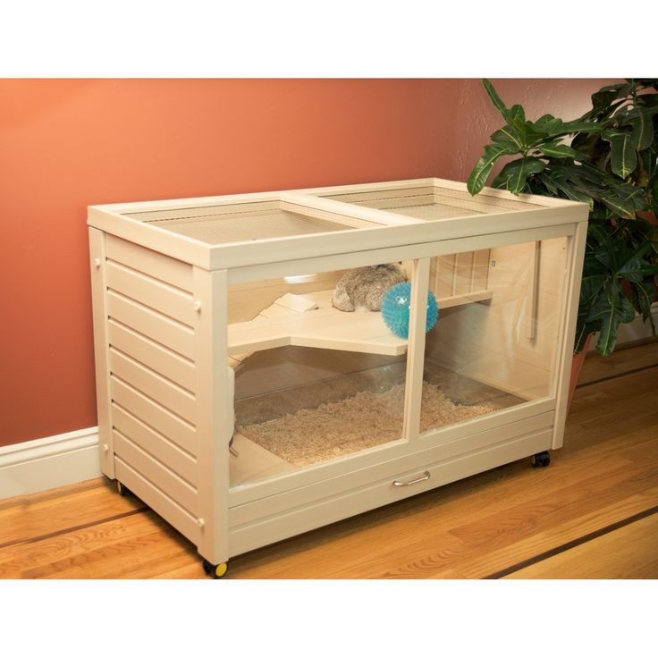 Features: -Habitat includes hay feeder and water bottle as shown. -Tip-proof food dish that secures to the balcony floor. -Home for rabbits and other animals such as guinea pigs, rabbit and chinchi More