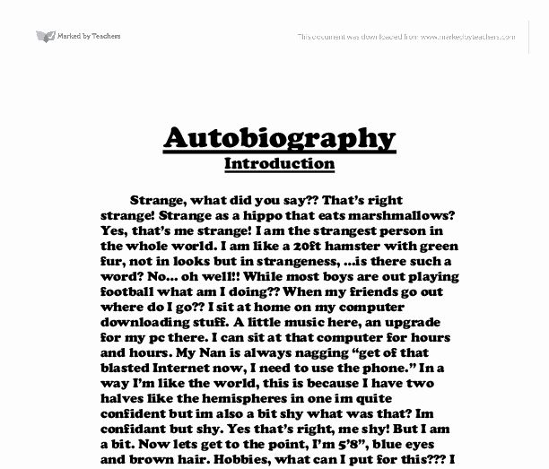 30 An Example Of An Autobiography In 2020 Autobiography Template