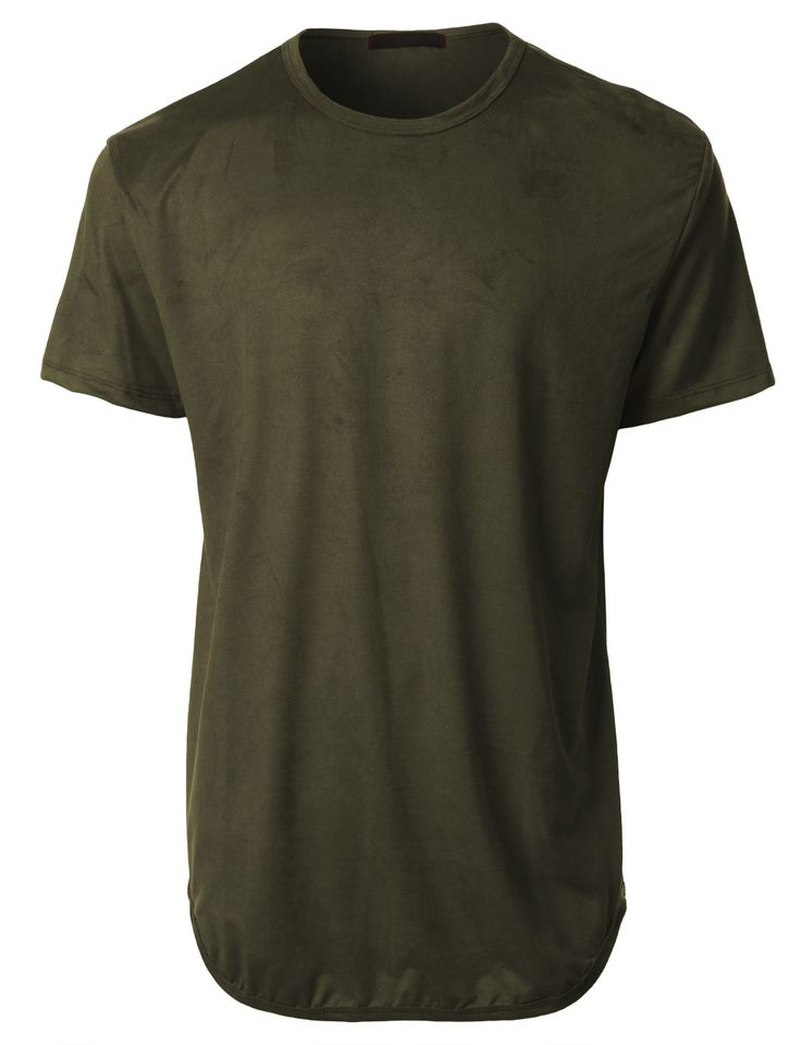 This faux suede hip hop longline t-shirt is simple yet modern. Wear this short sleeve t-shirt for outdoor activities or when running errands. Its lightweight and soft material will give you all-day co