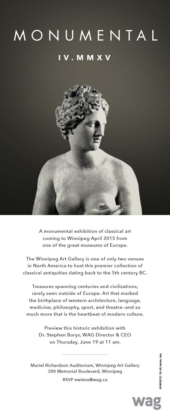 Can you guess what's coming? Press conference June 19 at the Winnipeg Art Gallery.