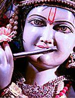 KRISHNA: Sanskrit: कृष्ण, Kṛṣṇa:  It is Sri Krishna, the eighth incarnation of Lord Vishnu, who most succinctly guides us in the meaning of love, devotion, wisdom and true freedom from karma. http://www.shreemaa.org/worship-of-lord-krishna/
