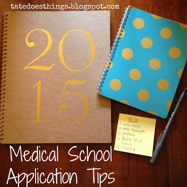 Tips on applying for a medical school?