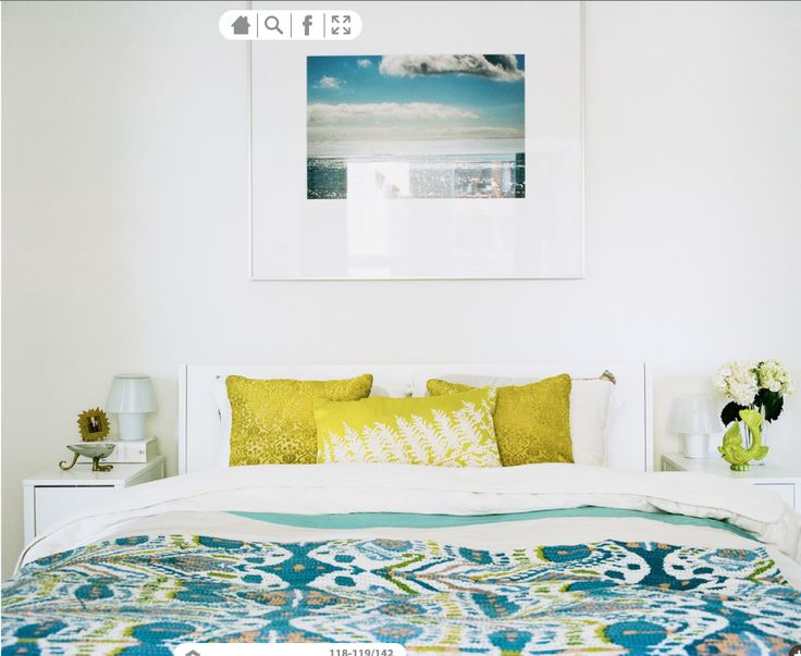 Love the lightness with pop of color