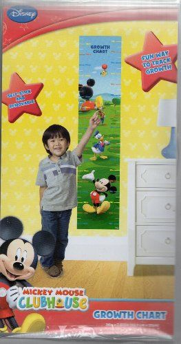 "Mickey Mouse Clubhouse Disney Growth Chart (36"" x 7.875"") Self Stick and Removable Chart Disney,http://www.amazon.com/dp/B00JCE8B0G/ref=cm_sw_r_pi_dp_X2jxtb1X40VM38F2"