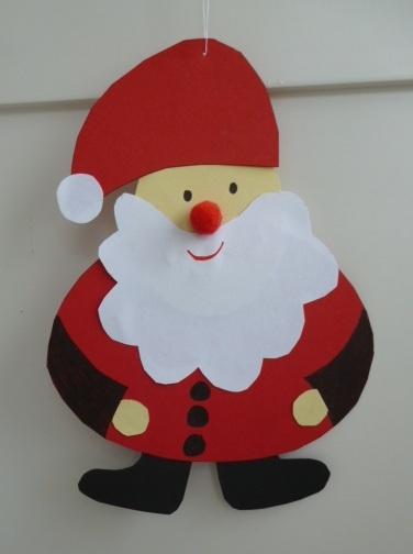 santa claus preschool craftsholiday - Santa Claus Preschool Crafts