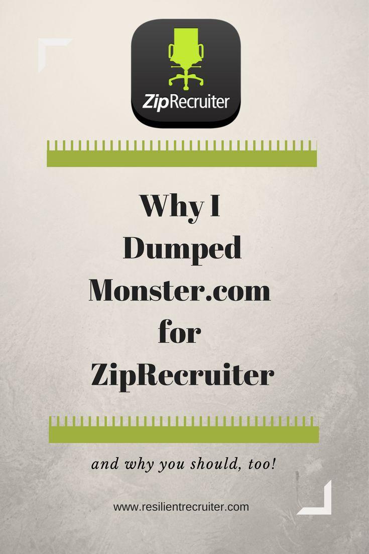 monster resignation letter%0A Why I Dumped Monster com for ZipRecruiter