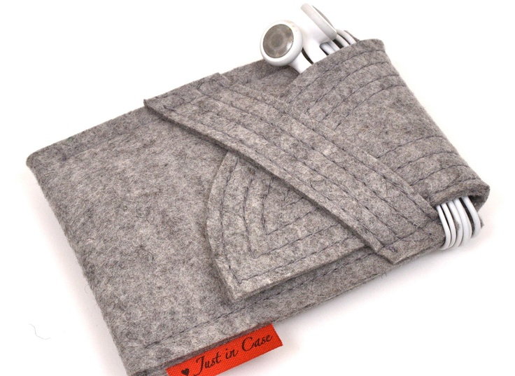 iPhone iPod Case Wool Felt in Granite by PinsnNeedlesCases. $18.00, via Etsy.