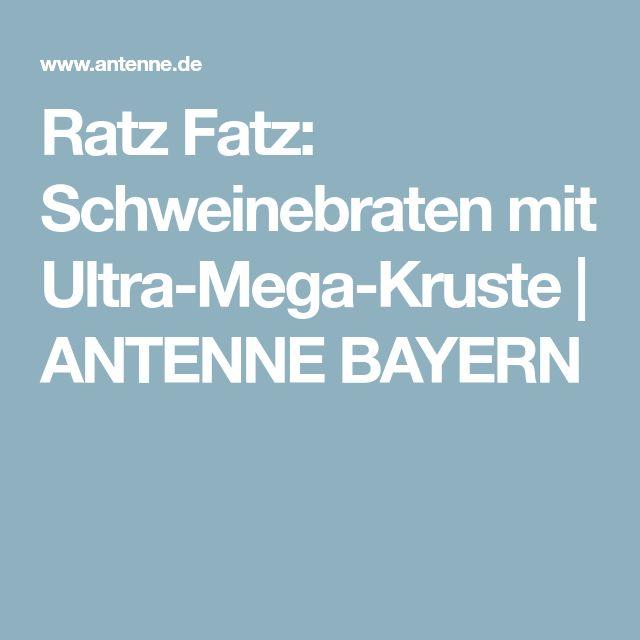 Ratz Fatz: Schweinebraten mit Ultra-Mega-Kruste   ANTENNE BAYERN