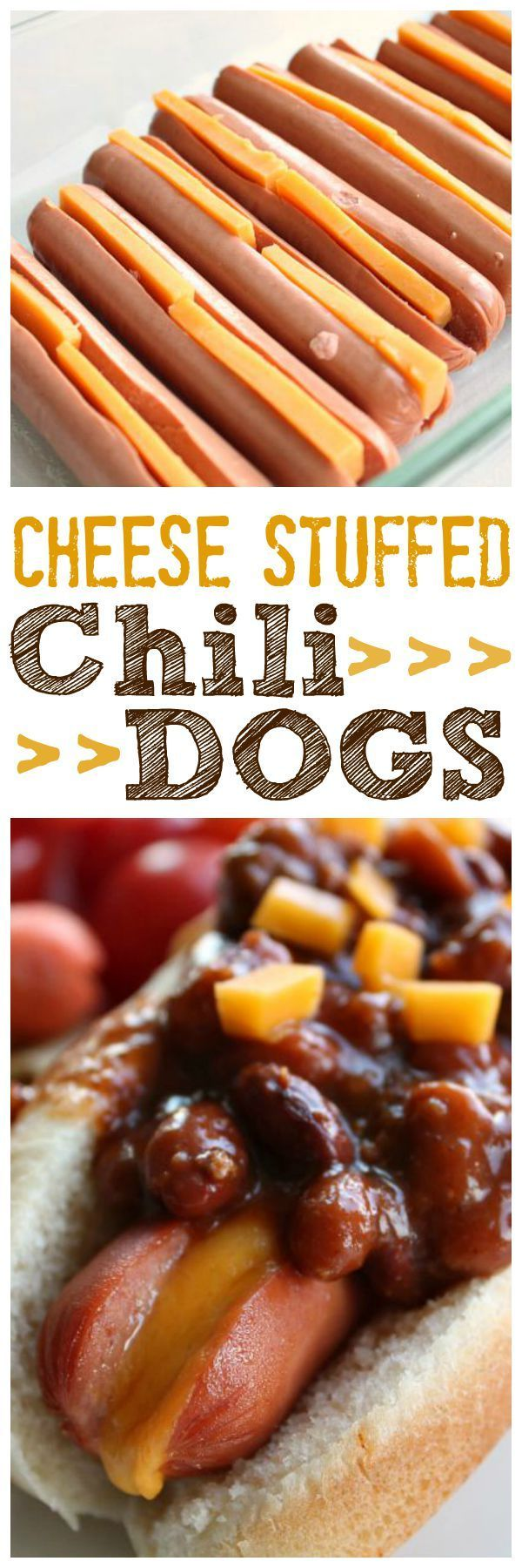 Perfectly melted cheese in your favorite hot dog and smothered with your favorite chili. Chili Dogs are THE BEST! ~ http://reallifedinner.com