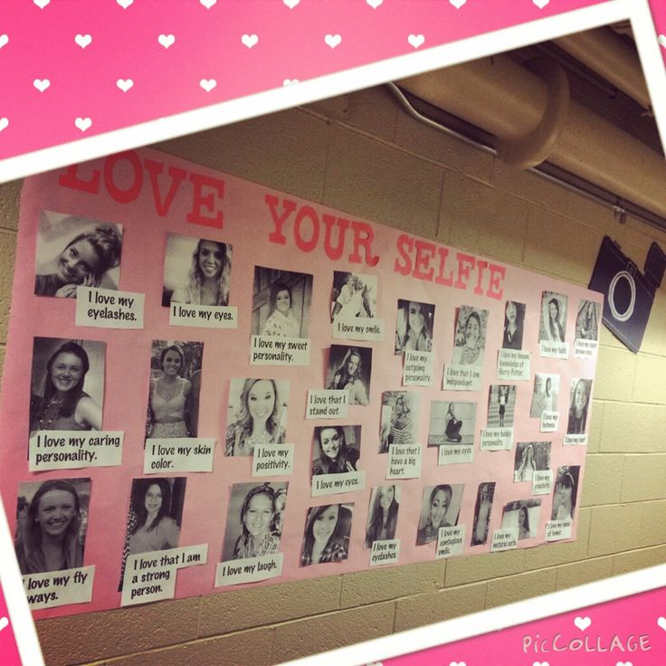 """Love Your Selfie"" program. Great way to remind girls to love theirselves!"