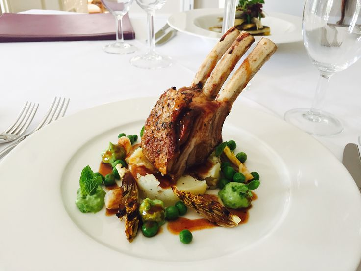 Roast Worcestershire Lamb Rack With Slow Cooked Breast Sauteed Peas Baby Gems Crushed Jersey Wedding CateringRabbitsGemsFine