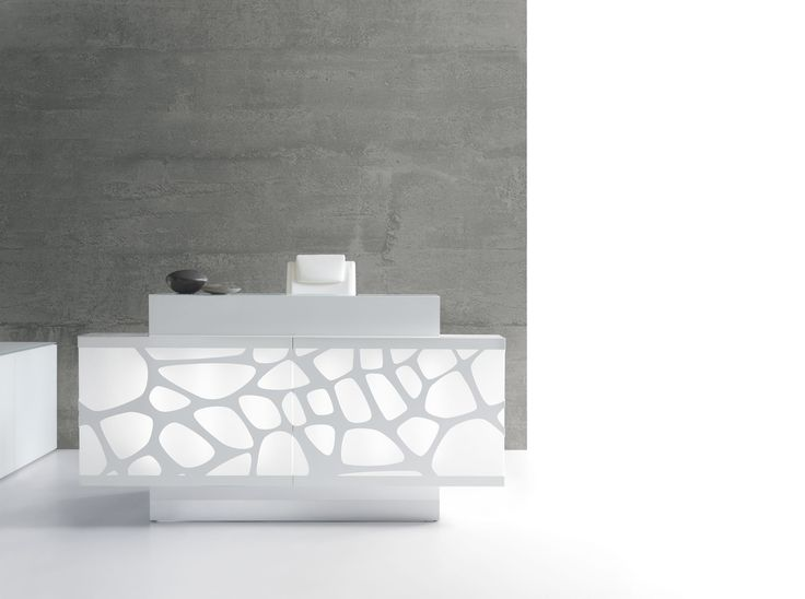It's time to ditch the fish tank and enter a new level of professional office design. Embrace modern sophistication with this contemporary reception desk.