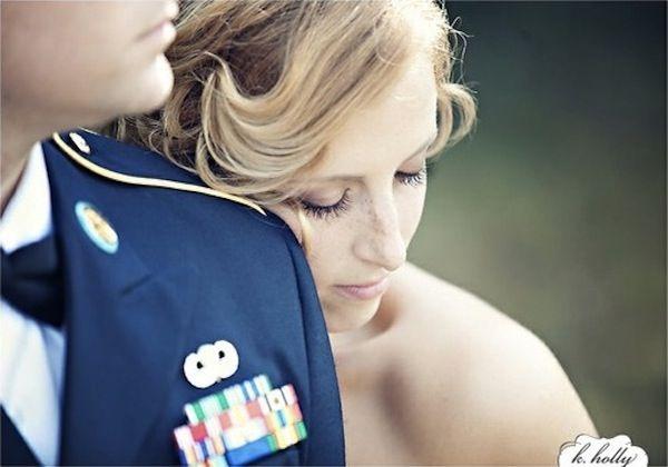 military groom, uniform, strapless wedding dress, military wedding inspiration