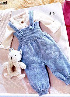 Детский комбинезон, вязаный спицами | Вязание для Вас