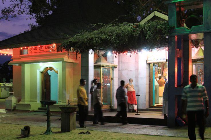 Hindu praying time at Tissamaharama, Sri Lanka