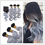 Obzer USA® 7A Gewellt ombre haar Body Wave Brasilianisch Virgin Echthaar Extensions, 100% Human Hair Tressen Haarverlangerung 121416 zoll: http://amzn.to/2rZHZV3