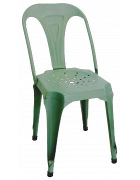 Metalen stoel blauw our table needs new chairs pinterest products - Vat stoel ...