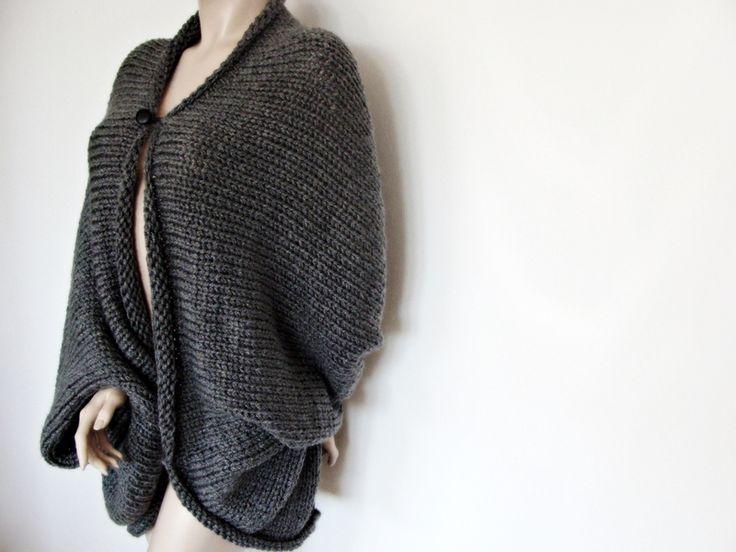 Open Style Cardigan - Nudakillers - Peleryny i poncza #fashion #style #stylish #love #nudakillers #beautiful #handmade #knitwear #awsome #modern #knitting   #gray #sweater #for #winter #design #styles #outfit #musthave #sweaterweather #oversized #oversizedsweater #sexysweater #fallwinter