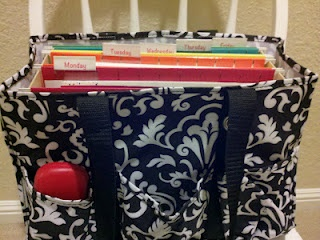 Love The Use Of This Thirty One Bag From Time4organization Blog I Ve Got Just Need File Box Pinterest Teacher
