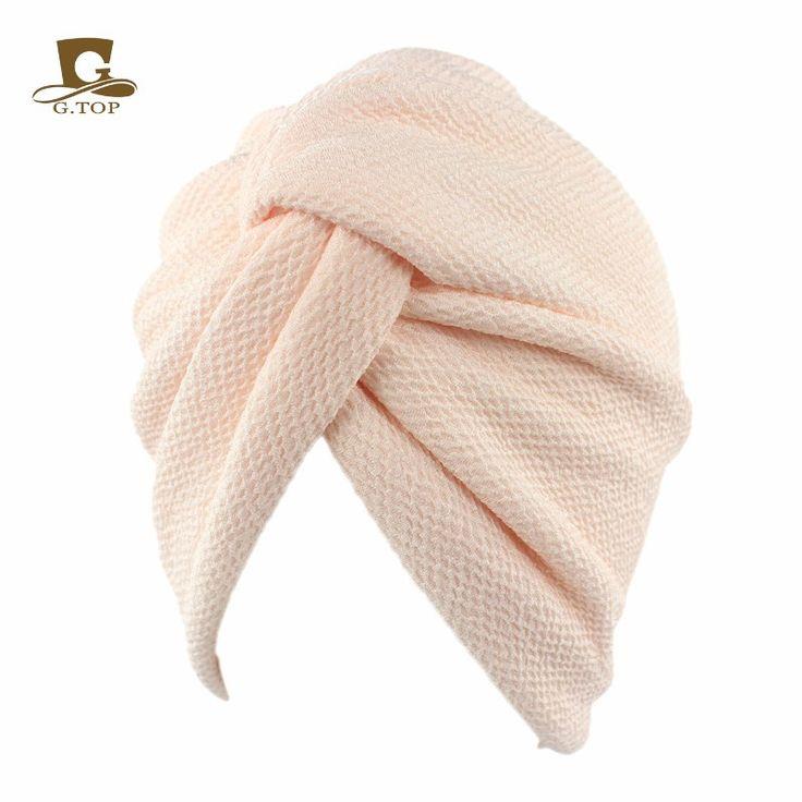 Aliexpress.com: Comprar Nuevo sencillo de lujo de algodón elástico Turbante Sombrero Chemo Doo Rag Skull cap de señora Hair Wrap Hijab Pañuelo en La Cabeza de abrigo de pelo fiable proveedores en Shop300076 Store