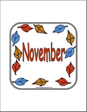sign november full page november sign featuring a picture of autumn leaves great for. Black Bedroom Furniture Sets. Home Design Ideas