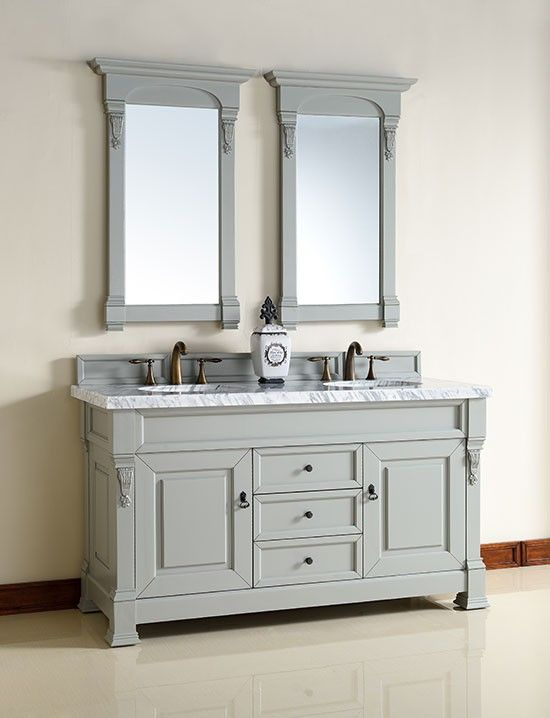 James Martin Brookfield (double) 60-Inch Urban Gray Transitional Bathroom Vanity With Top Options