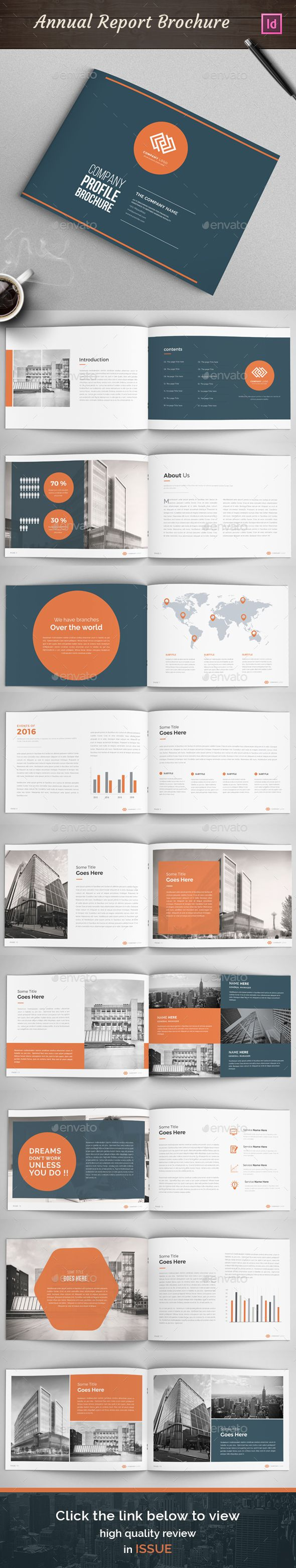 Company Profile Annual Report Template InDesign INDD. Download here: http://graphicriver.net/item/annual-report-company-profile/15670354?ref=ksioks